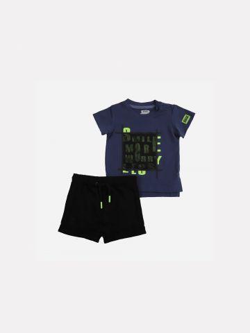 סט חולצה ומכנסיים קצרים / 6-24M של MINENE