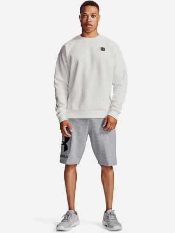מכנסי טרנינג קצרים עם לוגו של UNDER ARMOUR