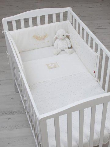 סט למיטת תינוק עם הדפס נוצה / בייבי של SHILAV