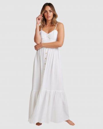 שמלת מקסי בשילוב כפתורים בסיומת פפלום של BILLABONG