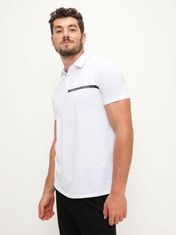 חולצת פולו עם לוגו של ARMANI EXCHANGE