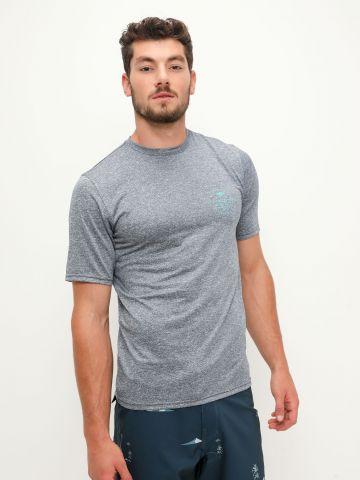 חולצת גלישה מלאנז' עם הדפס של BILLABONG