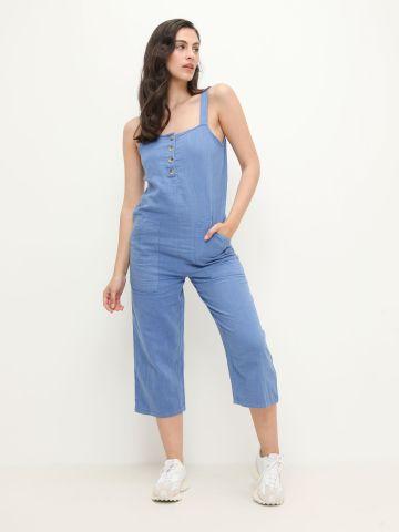 אוברול בסגנון ג'ינס עם כפתורים של BILLABONG