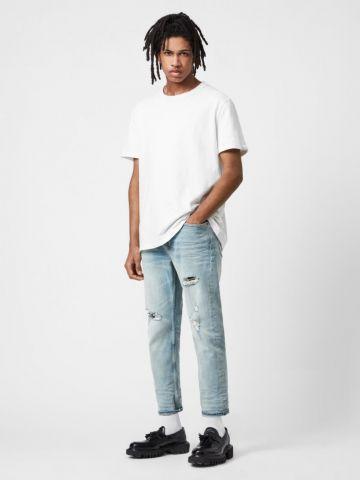 ג'ינס סלים בשטיפה בהירה של ALL SAINTS