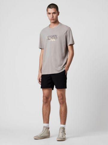 מכנסיים קצרים עם רקמת לוגו של ALL SAINTS