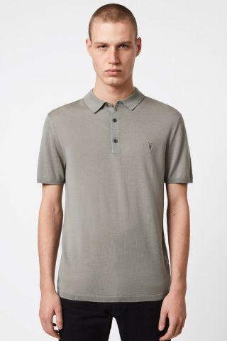 חולצת פולו עם רקמת לוגו / גברים של ALL SAINTS