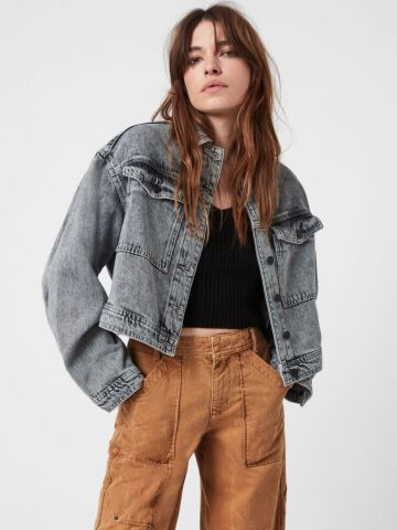 ג'קט ג'ינס בשטיפת ווש עם כיסים של ALL SAINTS