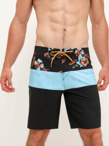 מכנסי בגד ים קולור בלוק עם הדפס פרחים של BILLABONG