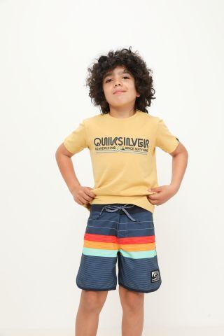 מכנסי בגד ים בהדפס פסים של QUIKSILVER