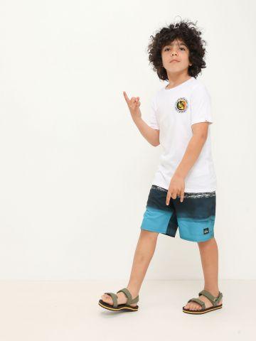 מכנסי בגד ים עם הדפס גלים של QUIKSILVER
