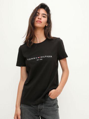 טי שירט עם רקמת לוגו / נשים של TOMMY HILFIGER