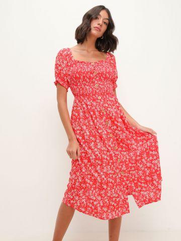שמלת מידי בהדפס עם כפתורים של ROXY