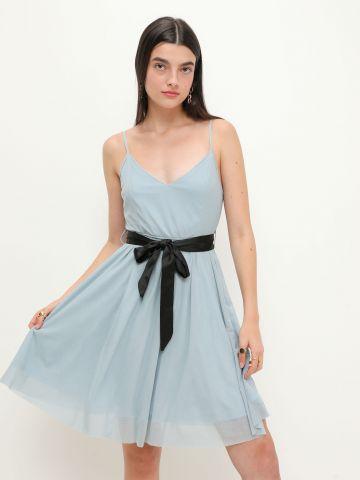 שמלה בשילוב חגורה של YANGA