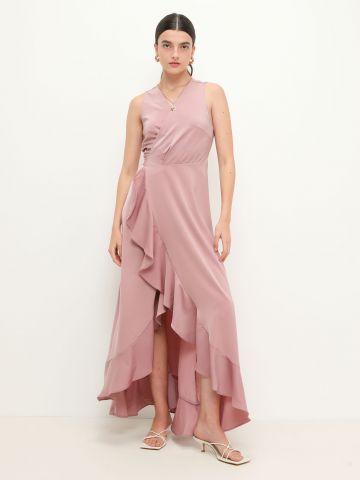 שמלת מקסי מעטפת אסימטרית של YANGA
