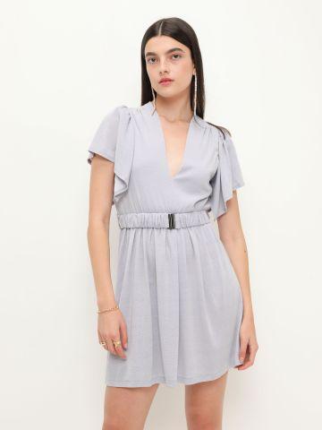 שמלת מיני עם עם חגורה מכווצת של YANGA
