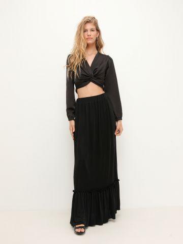 חצאית מקסי בסגנון קומות של YANGA