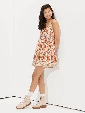 שמלת מיני קומות בהדפס פרחים של AMERICAN EAGLE