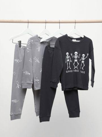 סט 2 חליפות פיג'מה עם הדפסי גוגולות / 6M-14Y של TERMINAL X KIDS