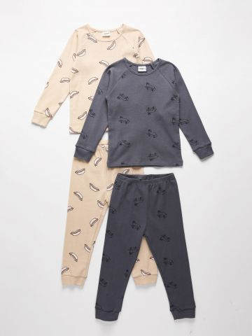מארז 2 חליפות פיג'מה ריב / 6M-14Y בנים של TERMINAL X KIDS