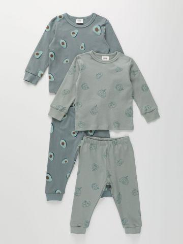 מארז 2 חליפות פיג'מה בהדפס / 6M-8Y בנים של TERMINAL X KIDS