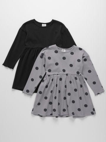מארז 2 שמלות מבד ריב / 0-2Y של TERMINAL X KIDS