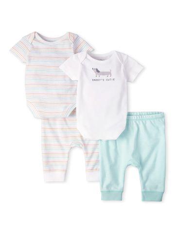 מארז 2 בגדי גוף ומכנסיים / 0M-9M של THE CHILDREN'S PLACE