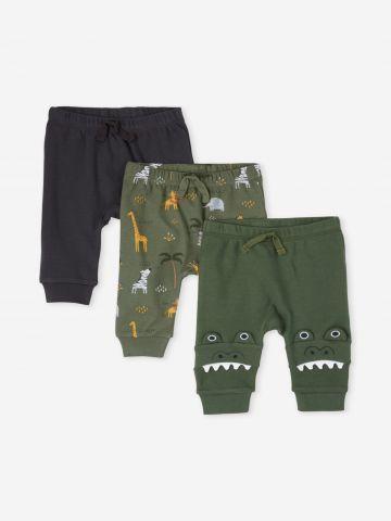 מארז 3 מכנסיים ארוכים ג'ונגל / 0-9M של THE CHILDREN'S PLACE