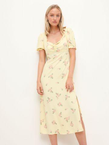 שמלת מידי בהדפס עם שסע של GLAMOROUS