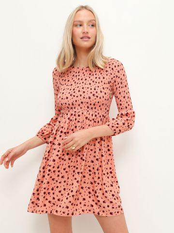 שמלת מיני בהדפס עם שרוולים 3/4 של GLAMOROUS