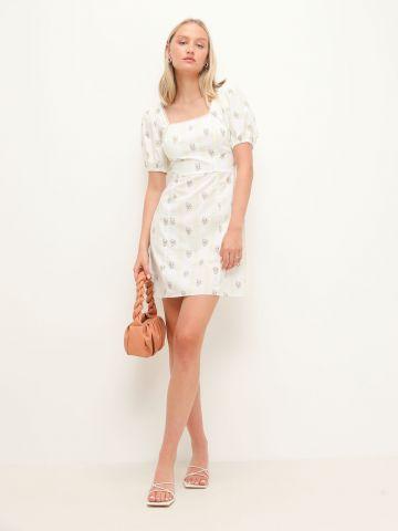 שמלת מיני בהדפס עם שרוולים נפוחים של GLAMOROUS