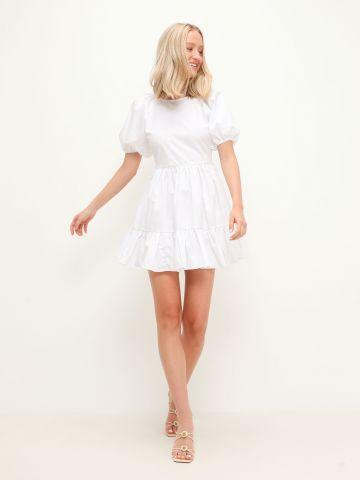 שמלת מיני פפלום קומות עם שרוולים נפוחים של GLAMOROUS