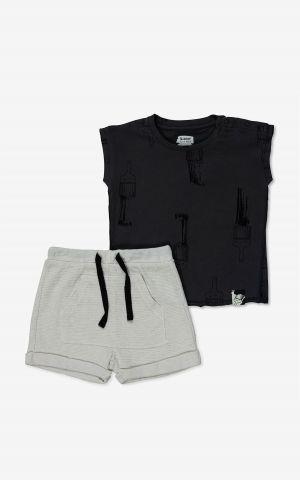 סט גופייה ומכנסיים קצרים בהדפס / בייבי בנים 3-24M של MINENE