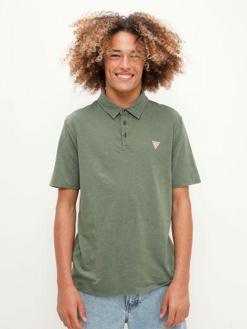 חולצת פולו עם פאץ' לוגו של GUESS