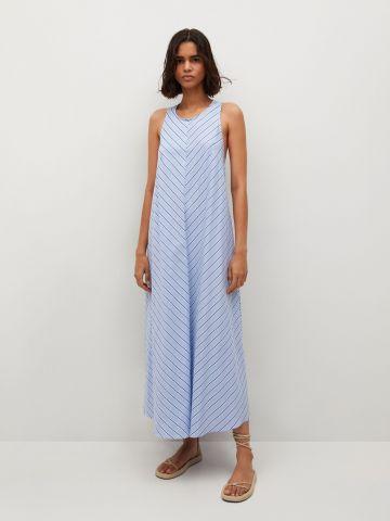 שמלת מקסי בהדפס פסים של MANGO