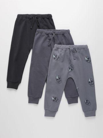 מארז 3 מכנסיים דקים פרנץ' טרי  / 3M-6Y בנים של TERMINAL X KIDS