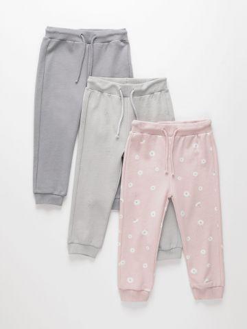 מארז 3 מכנסיים ארוכים דקים פרנץ' טרי / 3M-6Y בנות של TERMINAL X KIDS