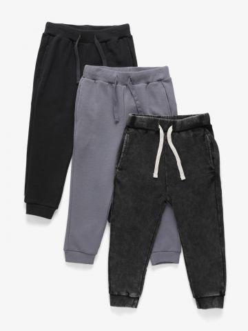 מארז 3 מכנסיים פרנץ' טרי דקים / 3M-6Y של TERMINAL X KIDS
