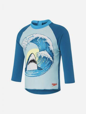 חולצת גלישה עם הדפס כריש / 2Y-6Y של SPEEDO