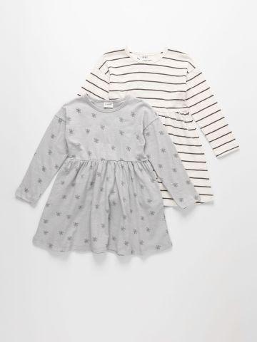 מארז 2 שמלות ג'רסי בצבעים שונים / 6M-6Y של TERMINAL X KIDS