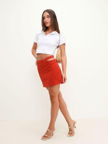 חצאית מיני עם פתח של TERMINAL X