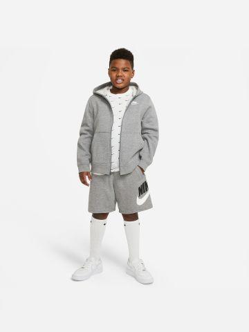 מכנסיים קצרים  Club Fleece עם הדפס מותג של NIKE