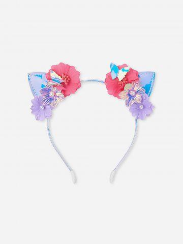 קשת שיער בעיטור פרחים ועם אוזניים / בנות של THE CHILDREN'S PLACE