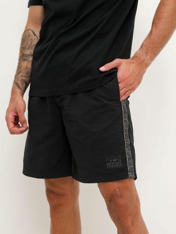 מכנסיים קצרים עם רקמת לוגו ורקמת טקסטורה של QUIKSILVER