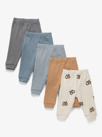 מארז 5 מכנסי טרנינג ריב  / N.B-2Y של TERMINAL X KIDS