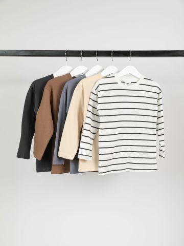 מארז 5 חולצות טי שירט מבד ג'רסי / 6M-14Y בנים של TERMINAL X KIDS