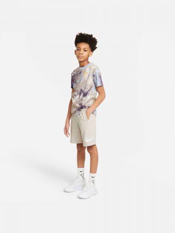 מכנסיים קצרים בהדפס לוגו Sportswear Swoosh של NIKE