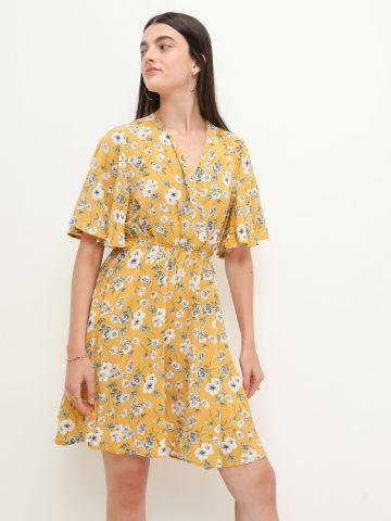 שמלת מיני בהדפס פרחים של YANGA
