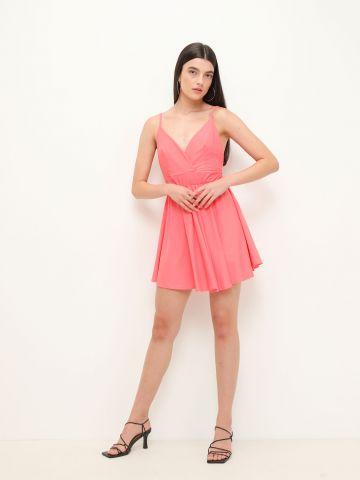שמלת מיני בגזרה מתרחבת של YANGA