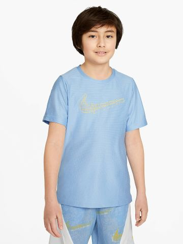 חולצת אימון Dri-FIT בטקסטורת משבצות של NIKE