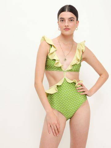 בגד ים שלם בשילוב מלמלה / נשים של SHANI SHEMER